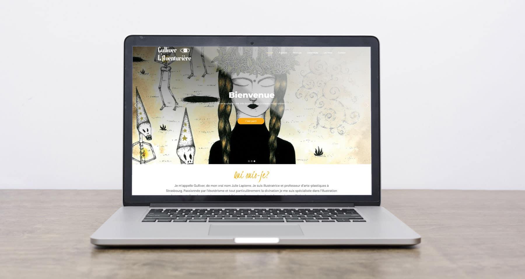 Gulliver L'Aventurière site web ArtCode